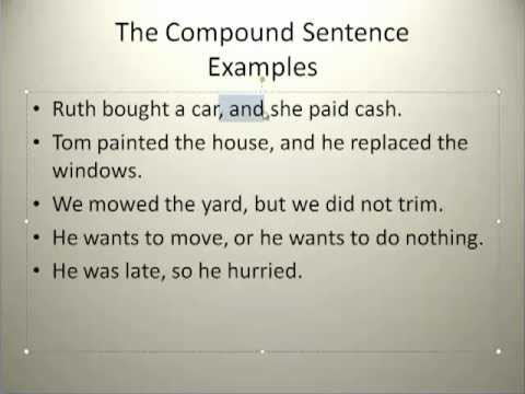 Simple Grammar Compound Sentence Youtube