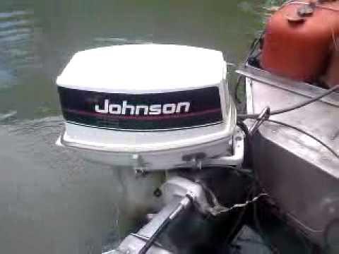 25 Hp Johnson 1989 Youtube