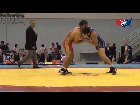2012 Junior Worlds - GR 74kg - Geordan Speiller (USA) vs. Islam Charaev (RUS)