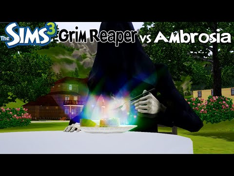 The Sims 3: What happens if Grim Reaper eats an Ambrosia