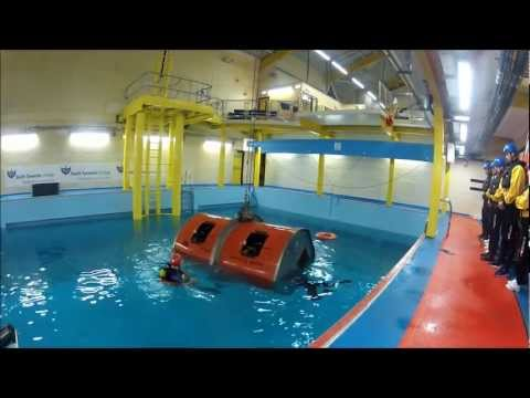 South Tyneside College Marine Safety Centre Offshore Survival Training