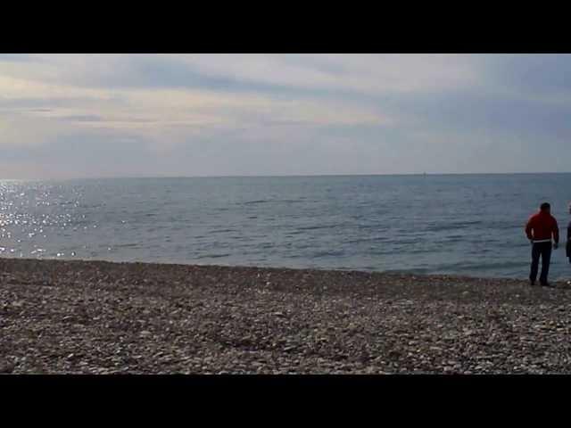 Лазаревское, море в День святого Валентина