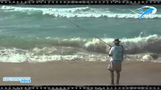 Double Catch- M.A. Robles in Worldchampionship Surfcasting 2014 France