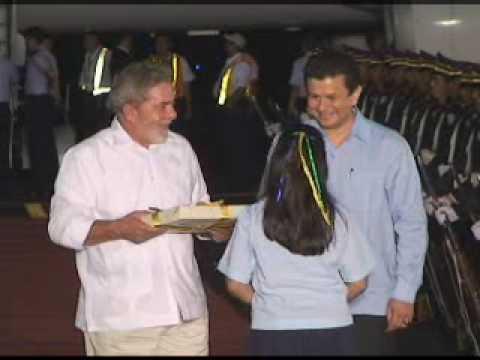 Presidente de Brasil, Lula da Silva llega a El Salvador para reunirse con Funes