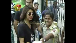 Priyanka Chopra at Polling Booth for Maharashtra Vidhan Sabha Elections 2014