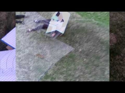 wave field drone battle with robot warriors