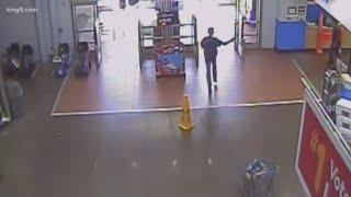 Walmart shooting surveillance footage
