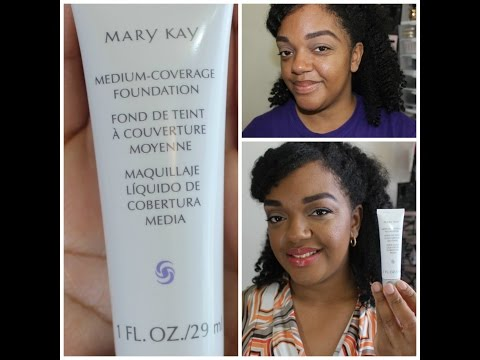 Mary Kay Medium Coverage Foundation (8 hour oil control. Demo and review)