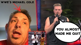 Pat McAfee & Michael Cole Talks Wrestlemania Shorts Incident