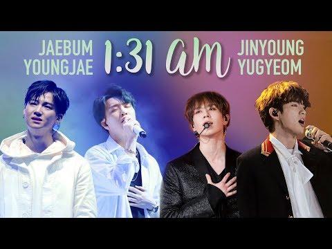 GOT7 Jinyoung & Yugyeom X JB & Youngjae - 1:31 AM Comparison (Split Audio)