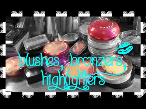 DeCLUTTER MY COLLECTION: Blushes, Bronzers, & Highligters