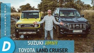 Comparativa 4x4 ¡al límite!: Suzuki Jimny vs Toyota Land Cruiser | Prueba Offroad | Diariomotor