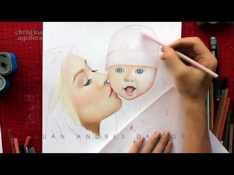 DRAWING CHRISTINA AGUILERA AND SUMMER RAIN