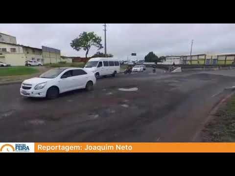 Buraco no Complexo Viário da Cidade Nova traz riscos aos motoristas