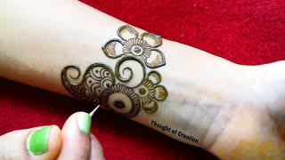 Stylish New Checks Mehndi Design for Front Hand |Thought of Creation