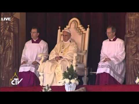 Canonización José Vaz, Papa Francisco en Sri Lanka 13 Enero 2015