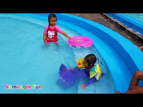 Seluncuran Air waterboom swimming pool Mermaid Tail Water slide Waterpark