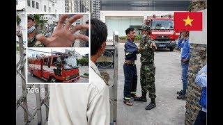 Bảo vệ Vinhome ngăn cản lính cứu hỏa thi hành nhiệm vụ | Vinhome Security Grabs Firefighter At Fire