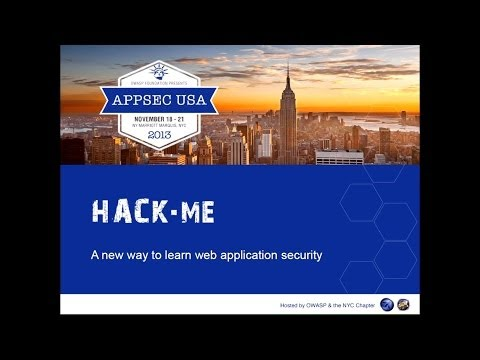 Hack.me: a new way to learn web application security Armando Romeo