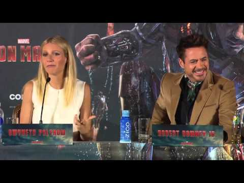 IRON MAN 3 World tour: Munich, Germany / Robert Downey Jr. funny moments