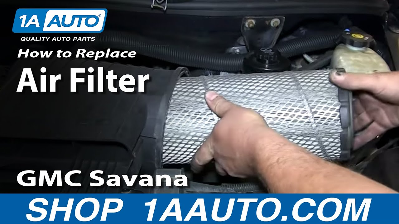 How To Install Replace Engine Air Filter 1996 2012 Gmc