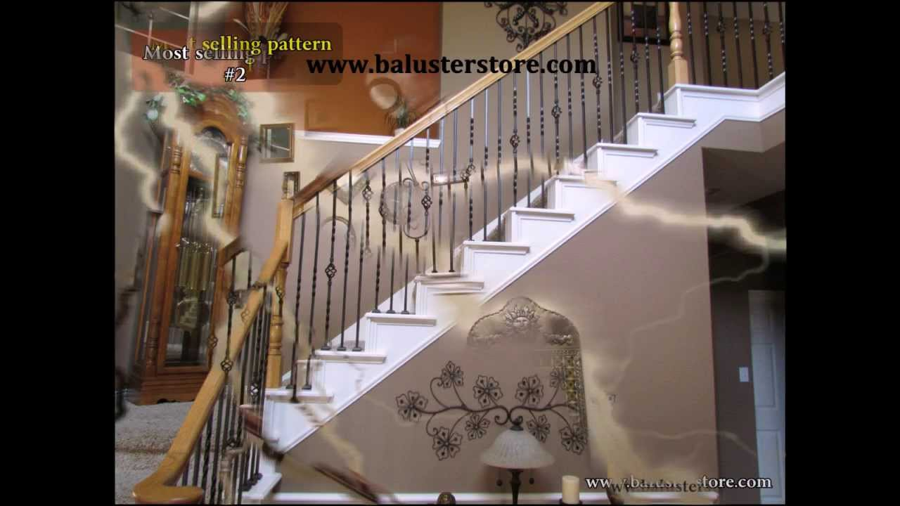 how to install iron stair spindles videos