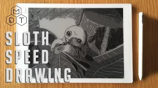 Sloth Speed Drawing on reMarkable 4K UHD
