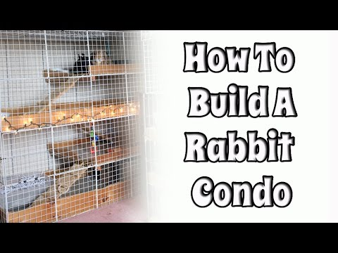 Budgetbunny how to build your own nic rabbit condo youtube - How to make a rabbit cage ...