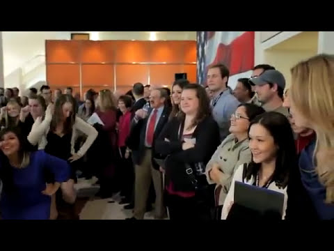 Bush School Students Surprise President Bush with Flash Mob at Texas A&M University