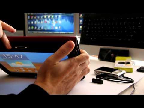 Acceso a contenido de una tarjeta SD. Tablet Samsung Galaxy Tab 10.1