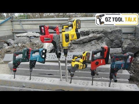 PREMIUM Battery SDS Hammer Drill Shoot-out - Dewalt, Bosch, Makita, Metabo, Milwaukee, Hilti