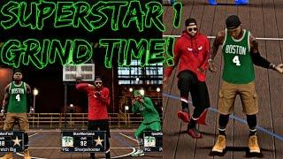 NBA 2K17 MyPark - TIME TO GRIND FOR SUPERSTAR 1! | GREENS LIGHTS DROPPING WITH JUICEMAN AND iPOD