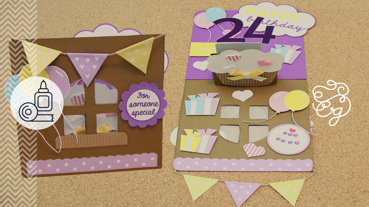 La tarjeta de cumpleaños perfecta Craftingeek YouTube