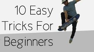 10 Easy Beginner Skateboard Tricks