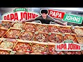 This 16 Year Old Kid Ate The Entire Papa Johns Menu in 10 Minutes (Pizza Challenge)