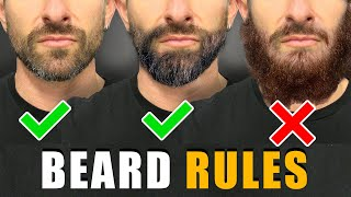 7 Beard Rules EVERY GUY SHOULD FOLLOW! (For a BETTER Beard)