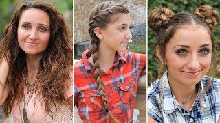3 Easy Back-to-School Hairstyles | DIY Hairstyles Compilation 2019