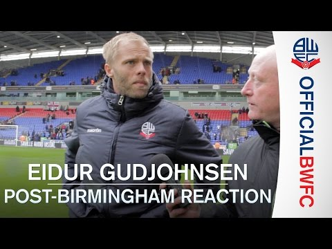 EIDUR GUDJOHNSEN | Post-Birmingham reaction