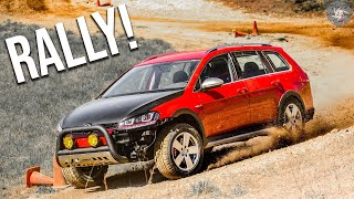 We Broke our MK7 Alltrack Rally Racing it..