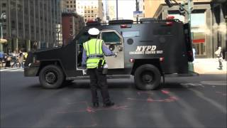 COMPILATION OF NYPD & UNITED STATES SECRET SERVICE ESCORTING DIPLOMATS DURING U.N. MEETINGS.  2
