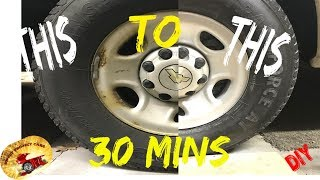 30 Minute STEEL WHEEL Reconditioning Great For Work Trucks & Duallys,Tractors