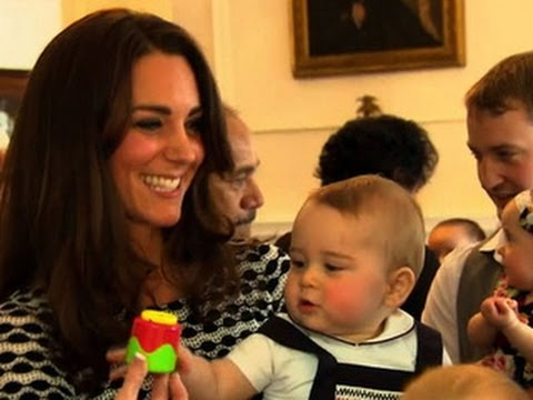 Prince George carries out his first official engagement - a playdate