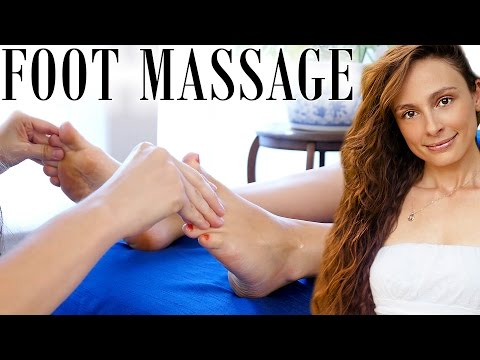 Awesome Foot Massage Techniques! Swedish Massage Therapy W/ Relaxing Music & ASMR Soft Voice