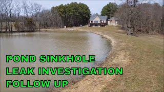 Pond dam core trench update on sink-hole investigation