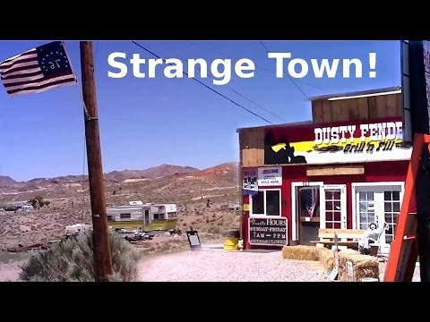Weird Little Town Near Area 51 - Semi Abandoned Ghost Town In Nevada Desert - USA Travel