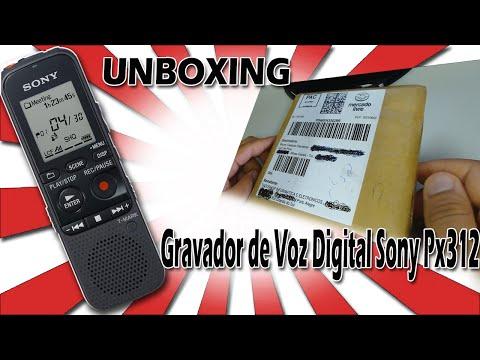 Unboxing - Gravador de Voz Digital Sony Px312