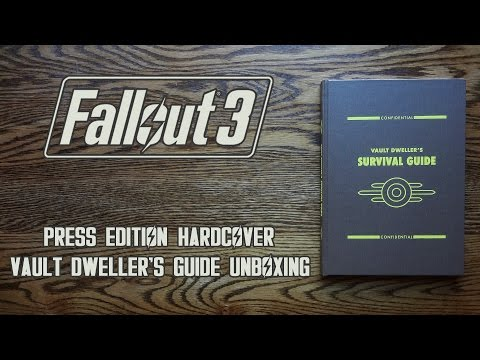 Fallout 3 Press Edition Hardcover Vault Dweller's Survival Guide Unboxing & Review - HD 1080p