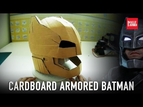 How to Make Armored Batman Helmet Part 1 - Cardboard (free PDF) Costume
