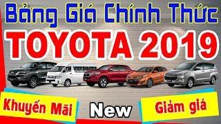 Bảng Giá Xe Chính Thức Toyota 2019 Khuyến Mãi Và Giảm Giá Tốt Nhất Thị Trường #ThếSơnToyota