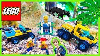 Lego City Jungle Trucks Jaguar Attack!
